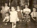Kristine (foreground) and her cousins Xmas 1948